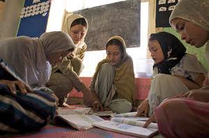 Girls in Afghanistan classroom