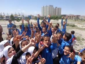 Children at the Rahyub School in Kabul