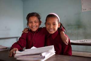 Former child laborers Sanju Maya and Maya.