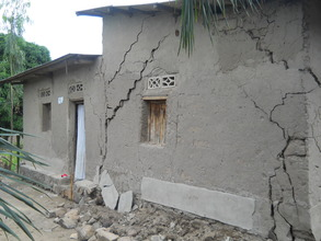 #1. The remains of destroyed houses in Carama