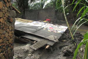 #2: A picture of one of the houses destroyed