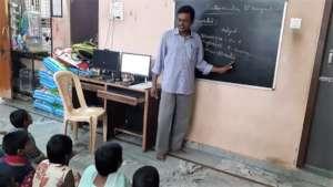 Joyhome Orphanage children getting Computer skills