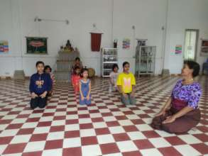 Some of our new children dancing