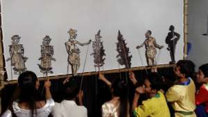 Khmer Shadow Puppet Performance