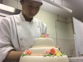"Ayaka Preparing ""Wedding"" Cake Contest Entry"