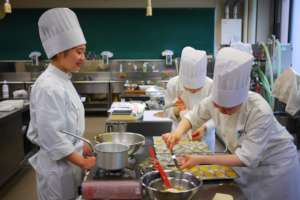 First Year Pastry Students in Action!