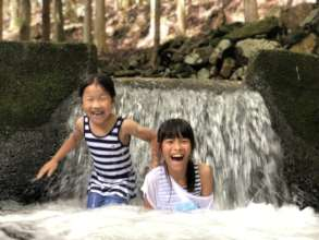 Enjoying time at river learning source of water