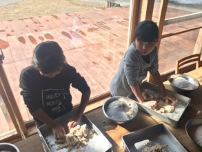 Creating mashed soy beans to create miso