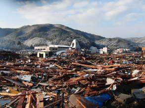 Town of Ogatsu damaged by tsunami