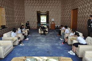 Ishinomaki Exchange Students with Amb. Fujisaki