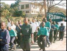 Chisomo children march in Blantyre, Malawi