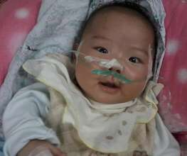 Premature baby Jinjin survived with our help
