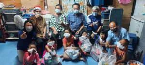 Families and kids receive Christmas cheer