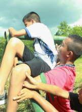 Makeur helping his teammate