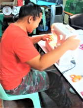 N. making the effort to sew a mask for others