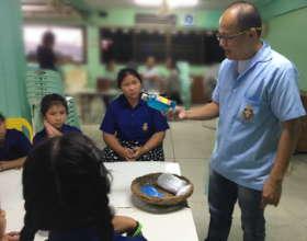 Volunteer meets with Teens and Children weekly