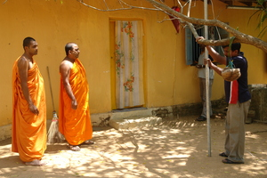 Mesh signals are being tested at a temple