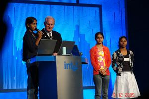 Radhika with Dr Craig Barret, Intel Chairman