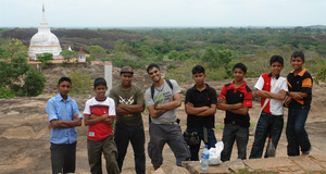 Gavinash with some students of Horizon Lanka at Tantirimale