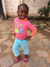 A little girl posing