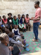 A Young Boy Leading a Workshop on HIV