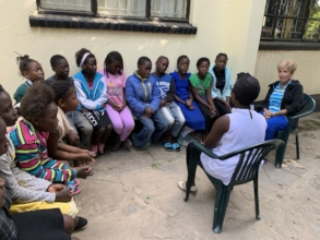 A Young Girl Leading a Workshop on HIV
