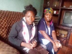 A child with grandma