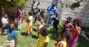 Children learning about COVID