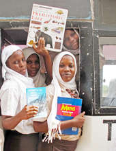 The girls with their books