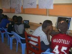 girls in digital training centre