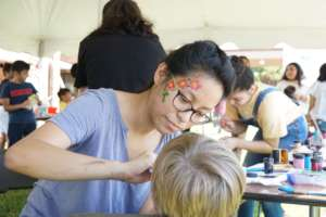 Face painting at Harrisonburg International Fest