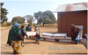 SAITU MEMBERS RECEIVING  10 BEEHIVES  FROM SAFINA