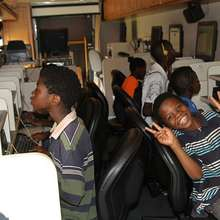 Students on iMobile Learning Center