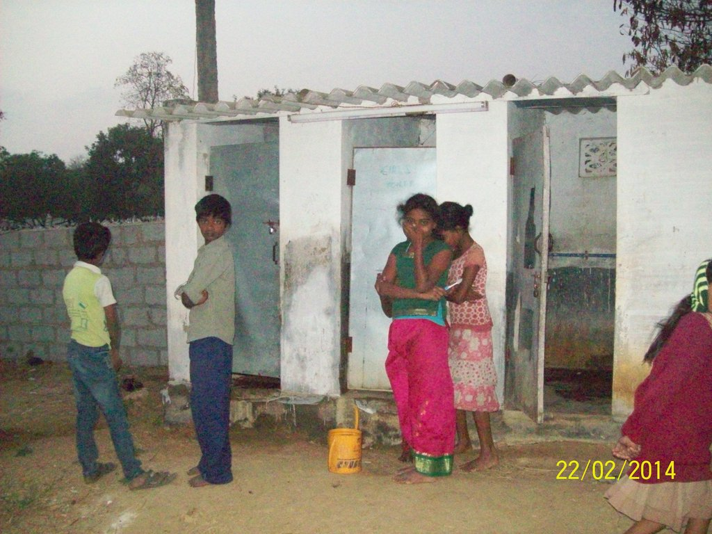 Toilets for 40 Poor Children in Karnataka, India