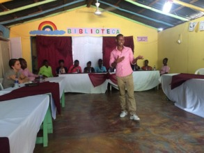 Julio Gives Professional Development Talk To Youth
