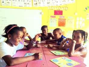 Class 5 playing noun bingo