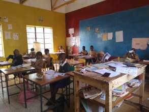 Teacher and Class in Progress