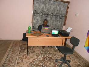 Abdallah in his office
