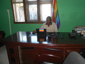 James Wandera in his office