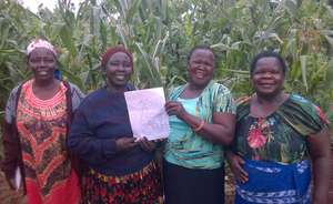 Jinja Women's Land Committee Look at New Land Map