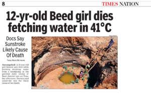 12 year old dies fetching water