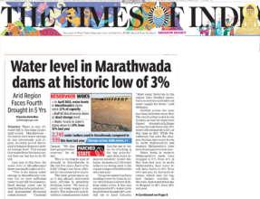 Only 3% water level in Marathwada