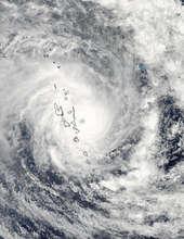 NASA Satellite Photo of Cyclone Pam