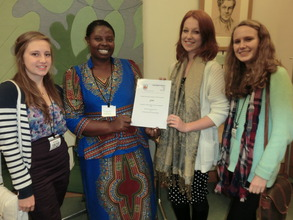 Rhobi with UK students who donated over $1000