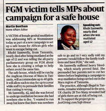 Evening Standard article, 15th October 2014