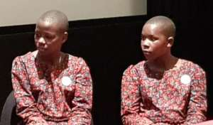 Neema and Rosie at the premiere