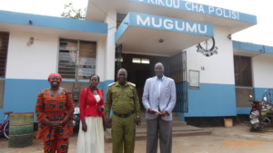 Mama Rhobi, Police Commander Mgema and WPC Sijali