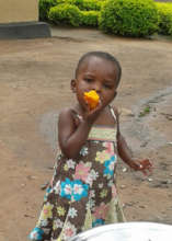 Salama with her mango