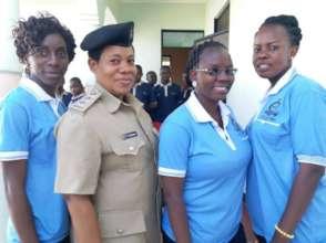 Police gender desk visit Safe House