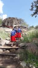 SH girls visit NOMAD camp to learn about tourism